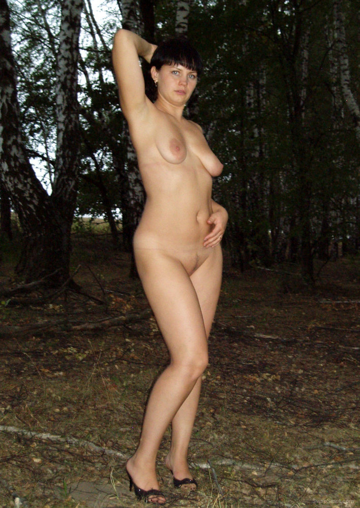 Outdoor in the Woods with a New Hair Color