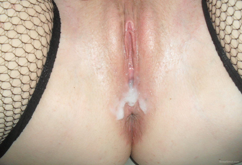 My pussy in panties and playing with toys big creampie oozing out