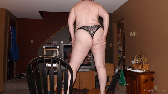 Just posing for my husband this weekend around the house naked