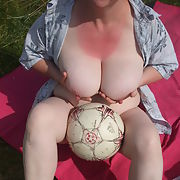 Wife outdoors for fun in the dunes
