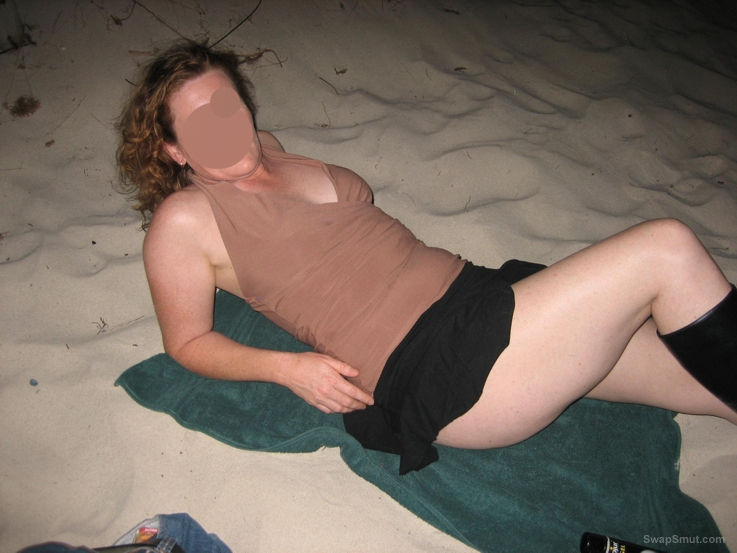 Just a fun evening out and about on the beach at night flashing