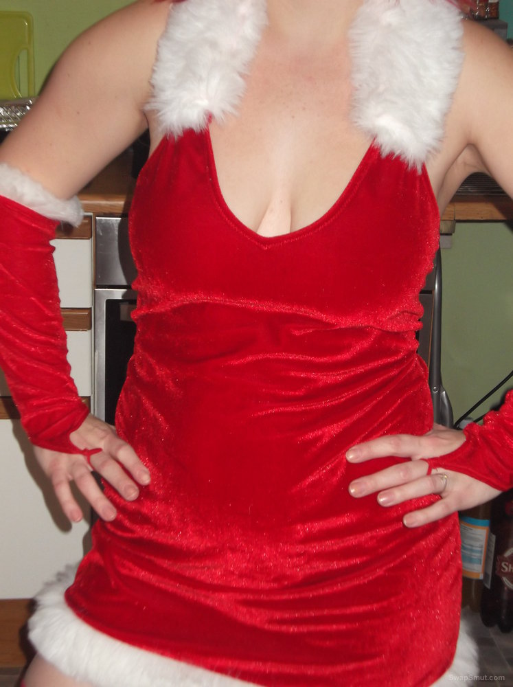 Dressed up as a Christmas slut waiting for Santa to arrive and deliver