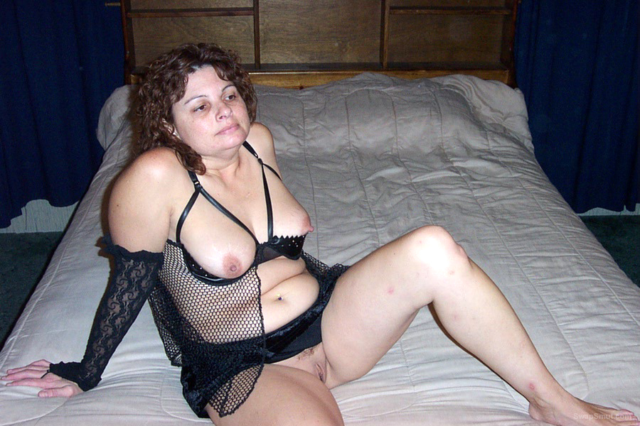 Annie Gets Very Hot in Funky Black Lingerie Outfit