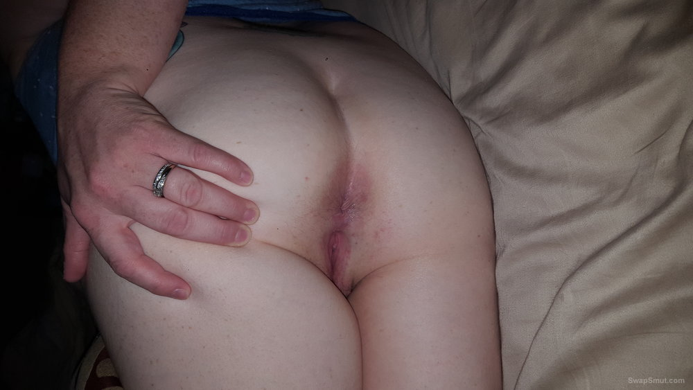Her ass waiting and ready Her holes are oh do tight