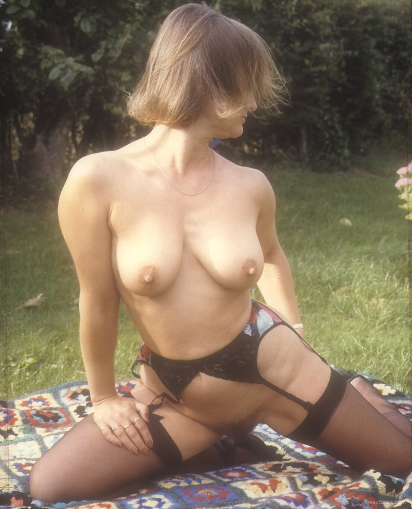Yvonne in stockings and suspenders