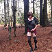 Cross dress walk - Out in the pines