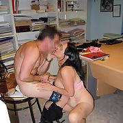The slut Mary suxk cock and gets fucked on the office table by some bloke