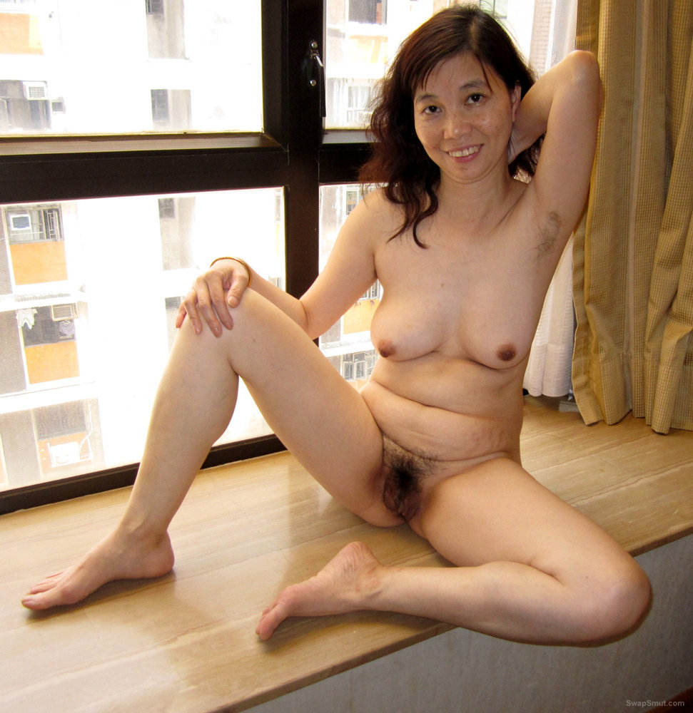 Hot Naked Hairy Asian Ann Loves Sucking on Cocks