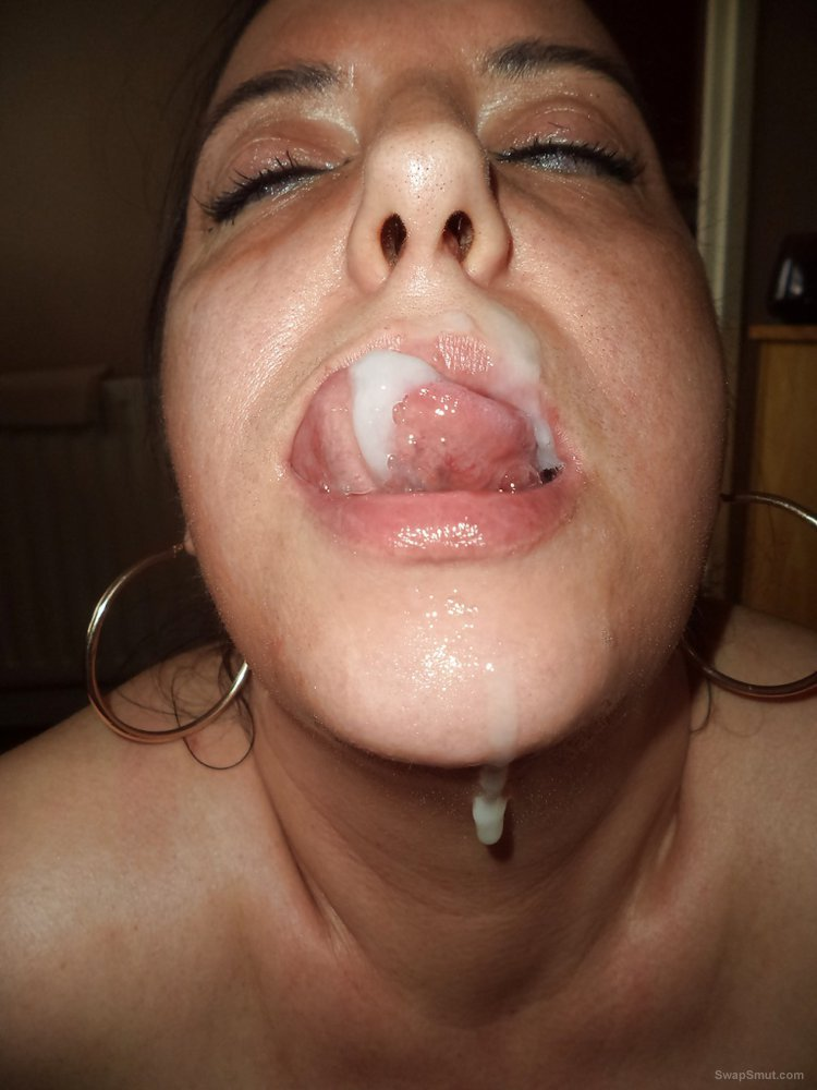 Mature bitch deep throat balls deep and tasting cum on face