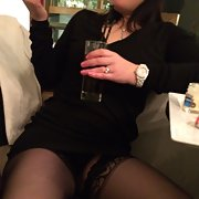 Mrs toodosex4u in a bar wearing tight miniskirt