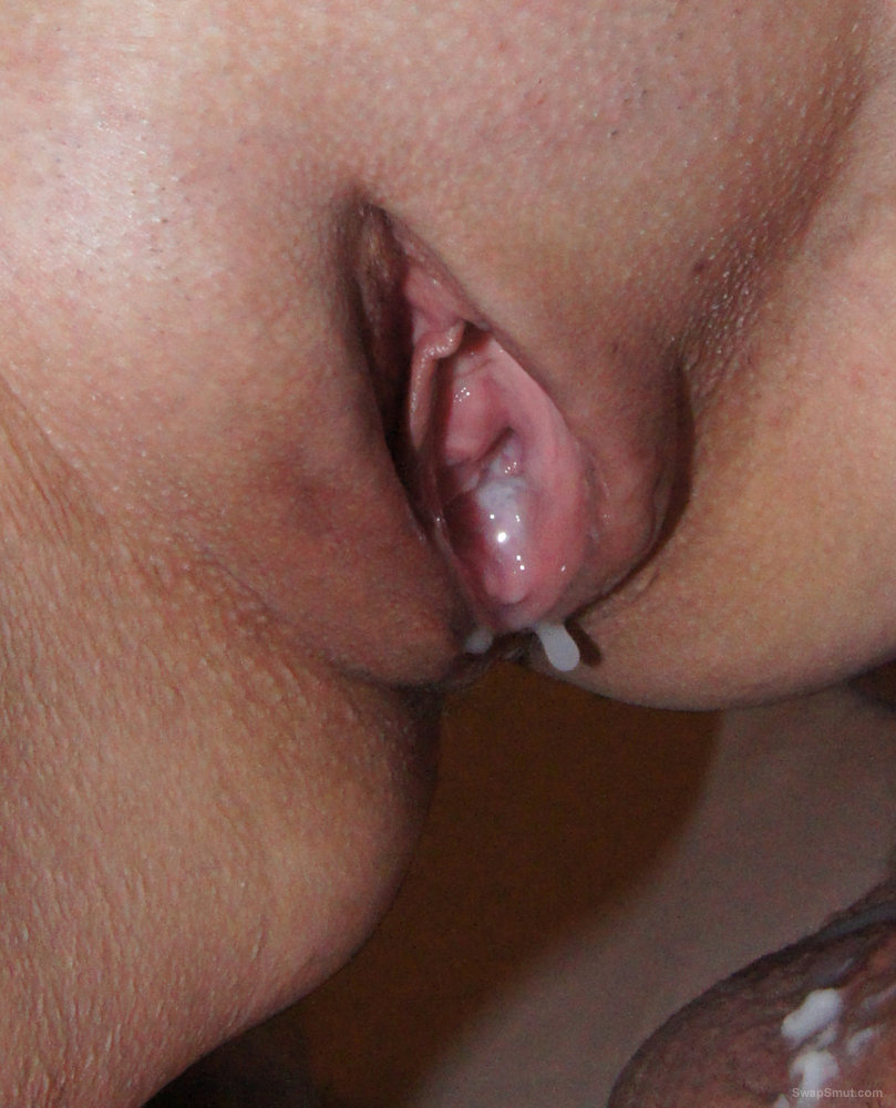 I love it after insemination to play with my sperm filled used pussy