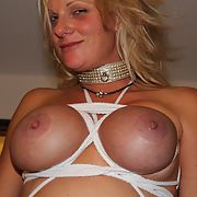 Submissive nikki tied up and used