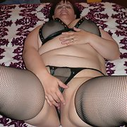 This sexy BBW just loves to dress in sexy lingerie and play with her anal beads