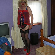 Crossdresser sexy playing in sexy lingerie
