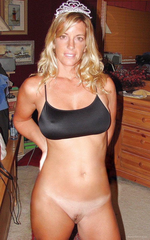 Busty Blonde Wife Blowjob