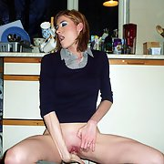 Beautiful wife exhibiting herself indoors and out flashing