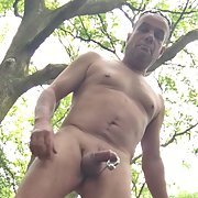 Wanking in car and woods as people walk bye