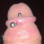 Pics of my pierced cock, took piercing out, should I put it back in