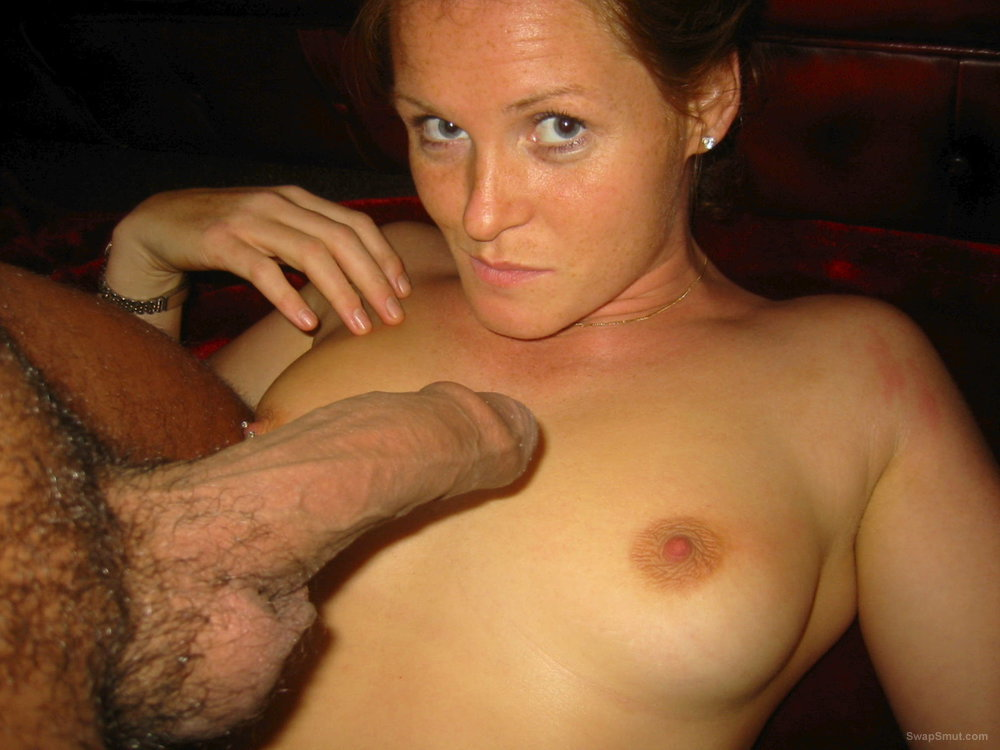Exhibitionist wife flashing her breasts and pussy in public places