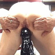 Stuffing my ass This cock is huge 1412