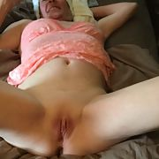 Hot wife showing her stuff looking peachy in pink