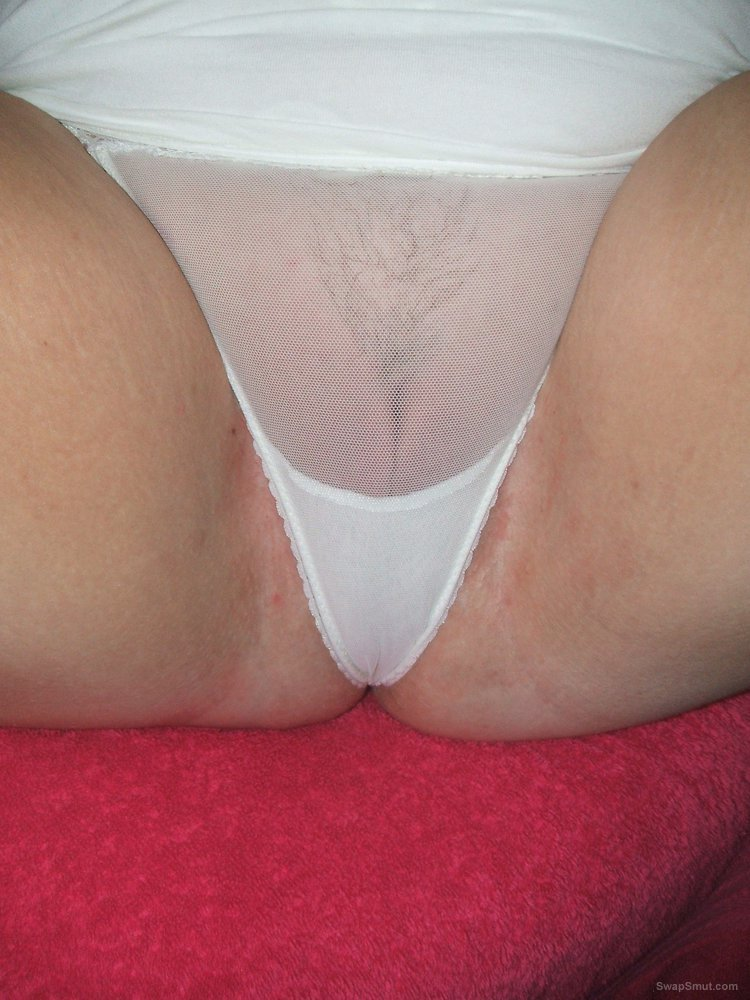Wet panties and a close up view of my cunt stuffed