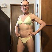 Exposed Faggot Pervert Slut Tranny Wears Green Bra And Panties