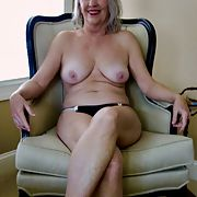 Granny Exhibitionist Hot Kat 60 loves guy masturbating to her pictures
