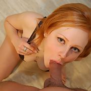 Cock sucking wife showing her perfect pussy and ass