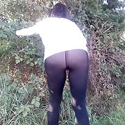 NYMPHIA see through legging outdoor