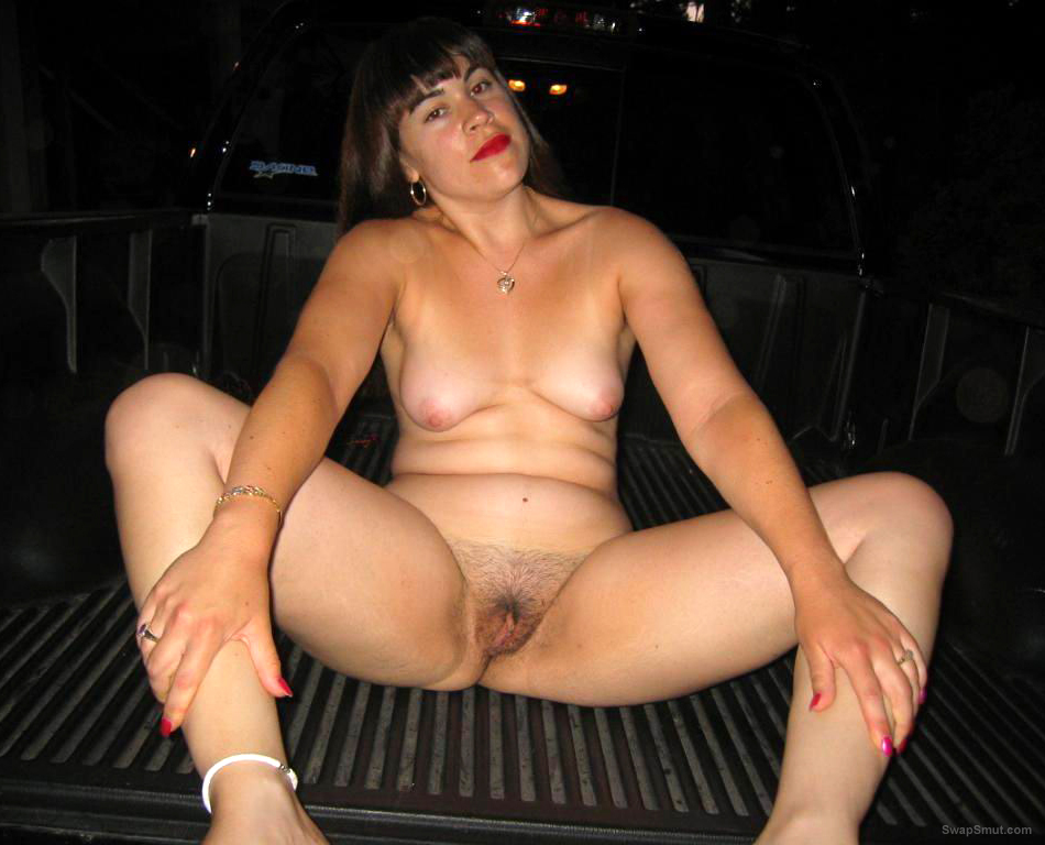 Exposing Herself on a Flatbed Truck