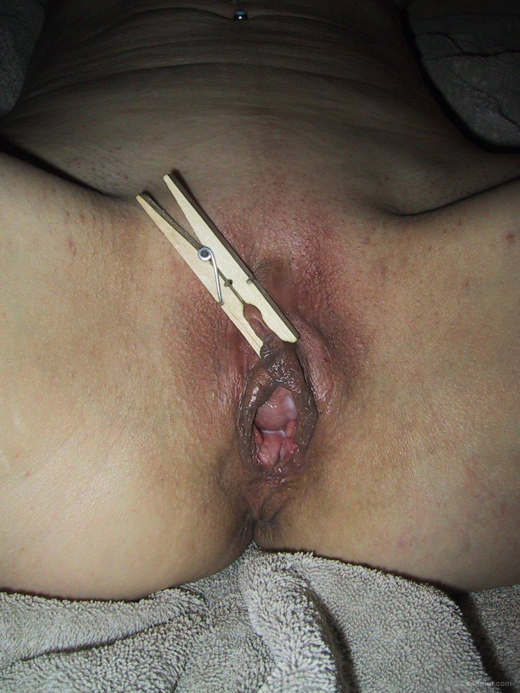 My Hot Slave Slut Heather getting clamped and fucked