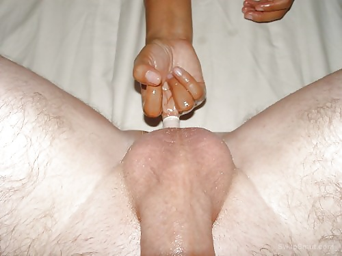 Getting a good prostate massage with a few fingers