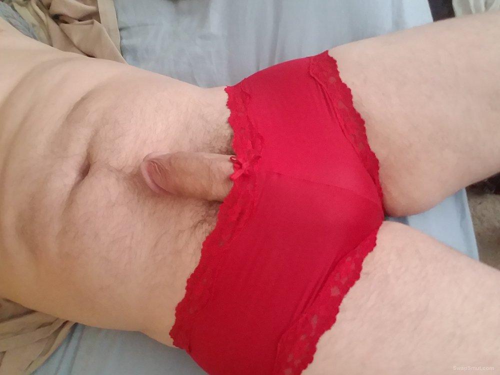 Suck my little white dick in panties