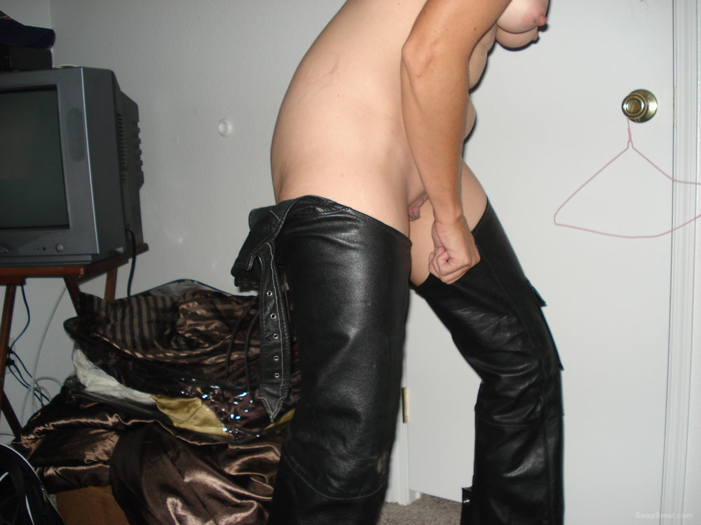 Was a private party and a lot of fun leather thigh high chaps
