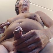 Wanking my cock until I cum with butt plug inserted in my ass