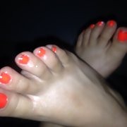 Showing off my new pedicure and hope you guys enjoy