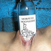 Special friend using a bottle and me putting all finger inside pussy