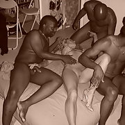 Cuckold blonde milf wild night of fucking with blacks