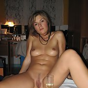 sexy MARTINA newly married lady posing for explicit pics with partner