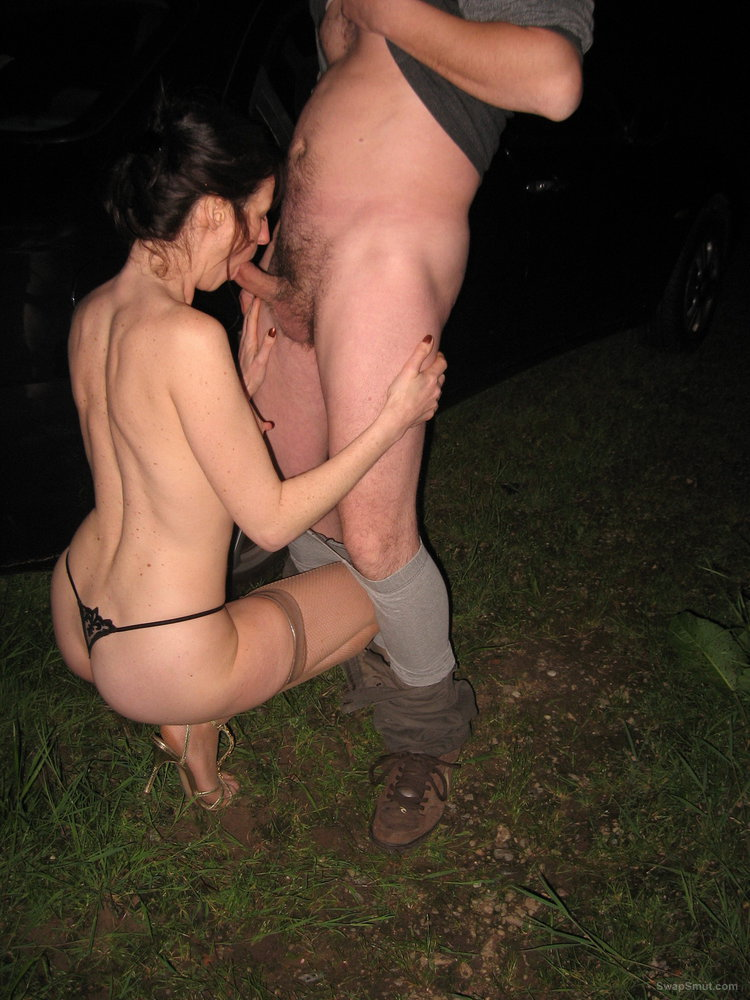 Wife out dogging and letting stranger fuck and cum on her