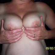 Wife showing off her awesome big tits with some sweet nipples too