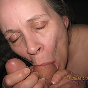 Sweet pussy cuckold gal older woman giving oral to many dicks