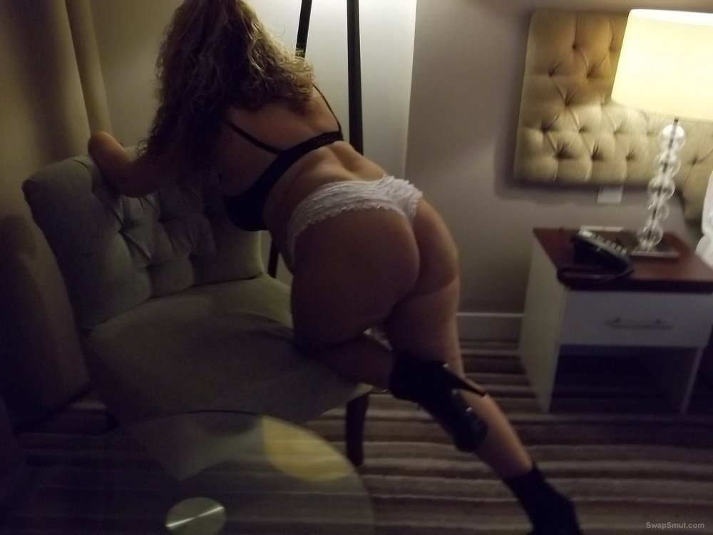 Sexy wife 32 year old milf high heels panties and bra