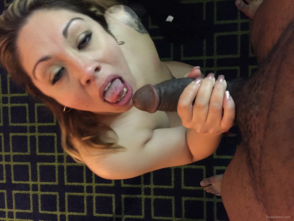 My dirty whore wife sucking BBc cock