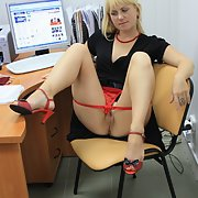 A very sexy and kinky couple sharing thier stuff with us office porn