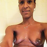 Ebony thirty year old with toys