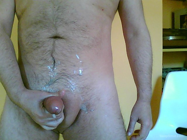 Cum to cam with Barbara body nd penis splattered with sticky sperm