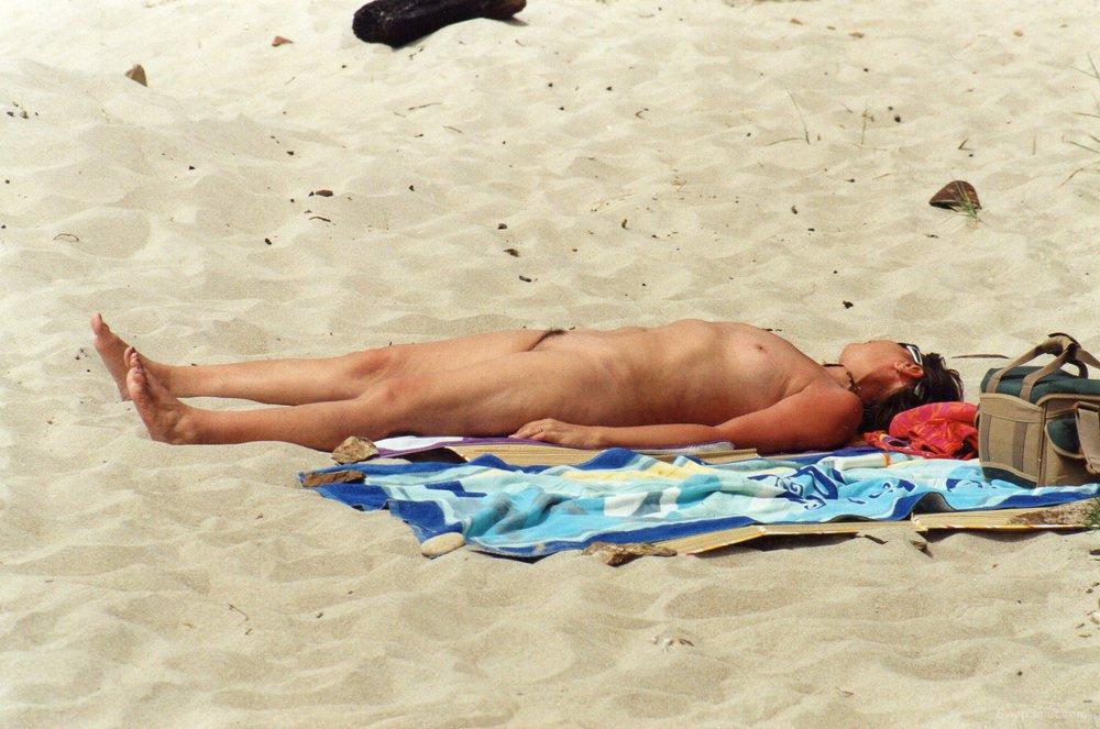 My wife enjoying the sun in France