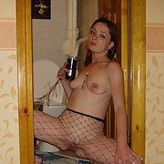 slut wife in fishnet tights